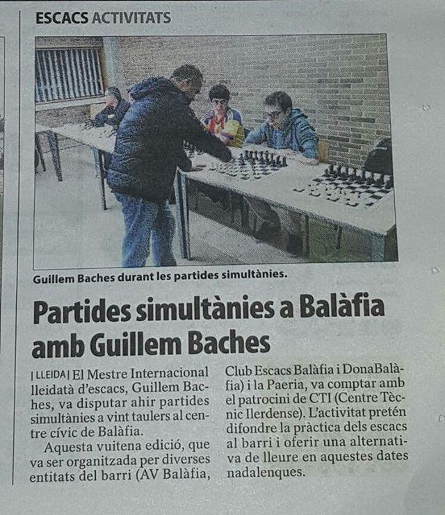 Simultanea ajedrez