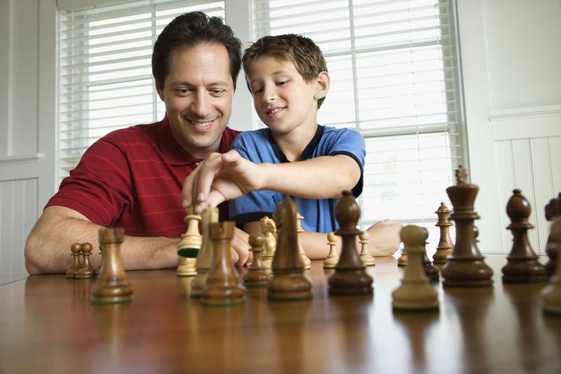 Family bonding through chess 3