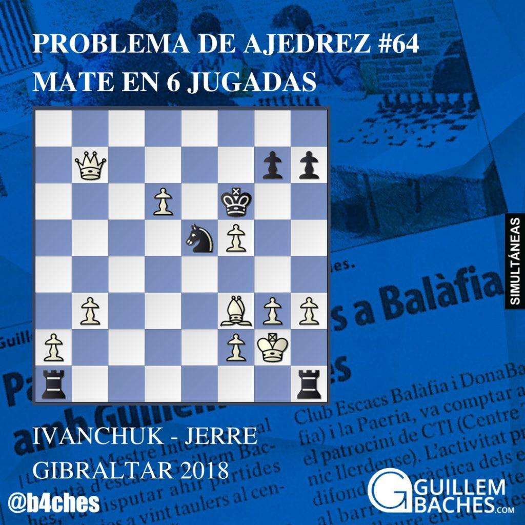 PROBLEMA DE AJEDREZ #64 JUEGAN BLANCAS. MATE EN 6 JUGADAS
