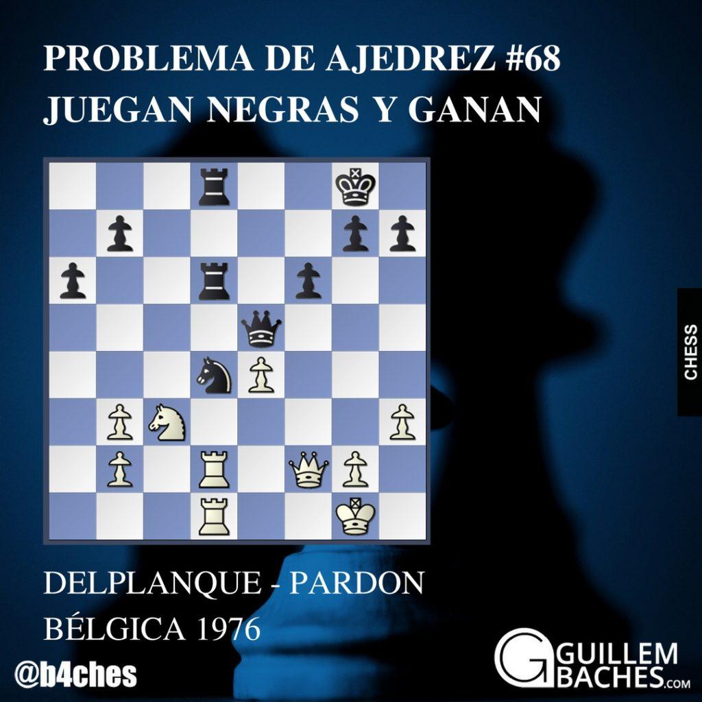 PROBLEMA DE AJEDREZ #68 JUEGAN NEGRAS Y GANAN