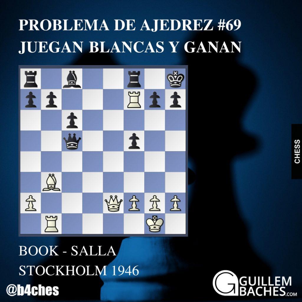 PROBLEMA DE AJEDREZ #69 JUEGAN BLANCAS Y GANAN 1
