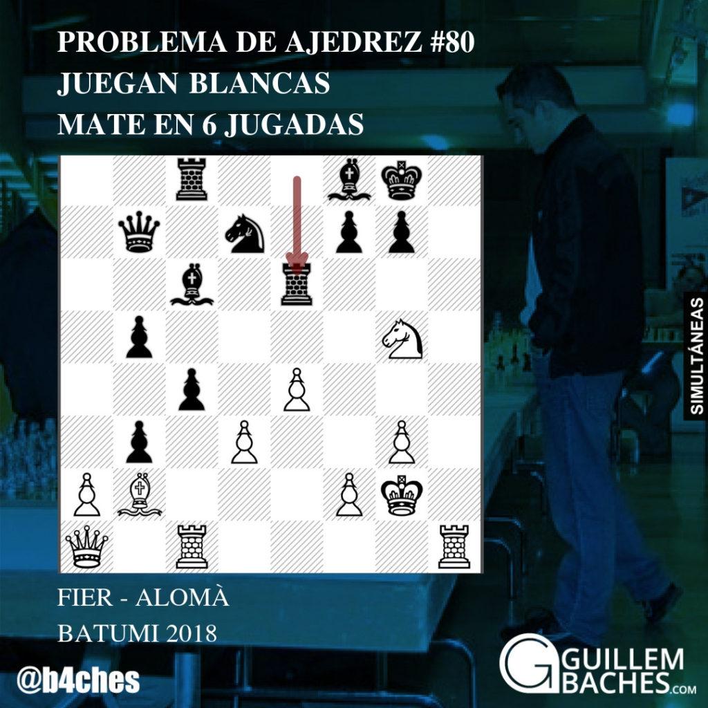PROBLEMA DE AJEDREZ #80. JUEGAN BLANCAS Y DAN MATE EN 6 JUGADAS. FIER - ALOMÀ. BATUMI 2018