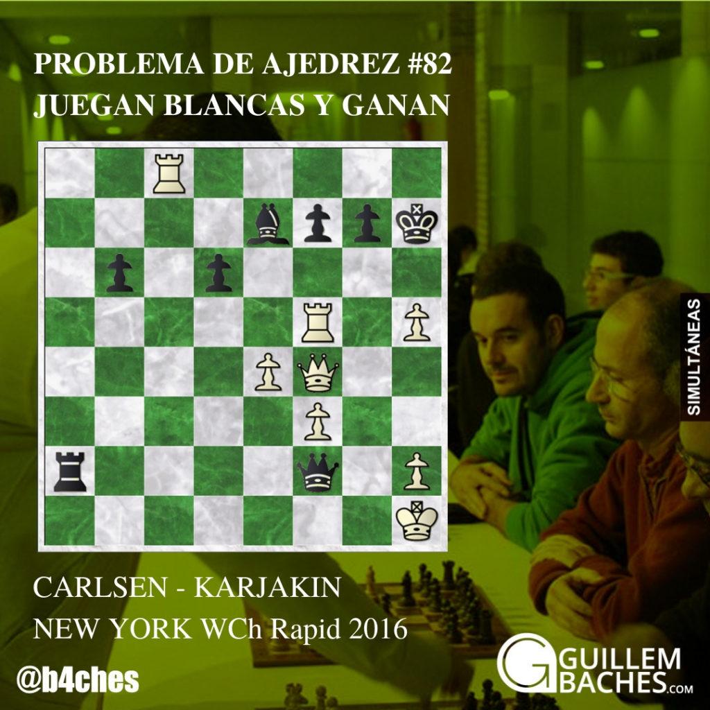 PROBLEMA DE AJEDREZ #82. CARLSEN - KARJAKIN. NEW YORK 2016