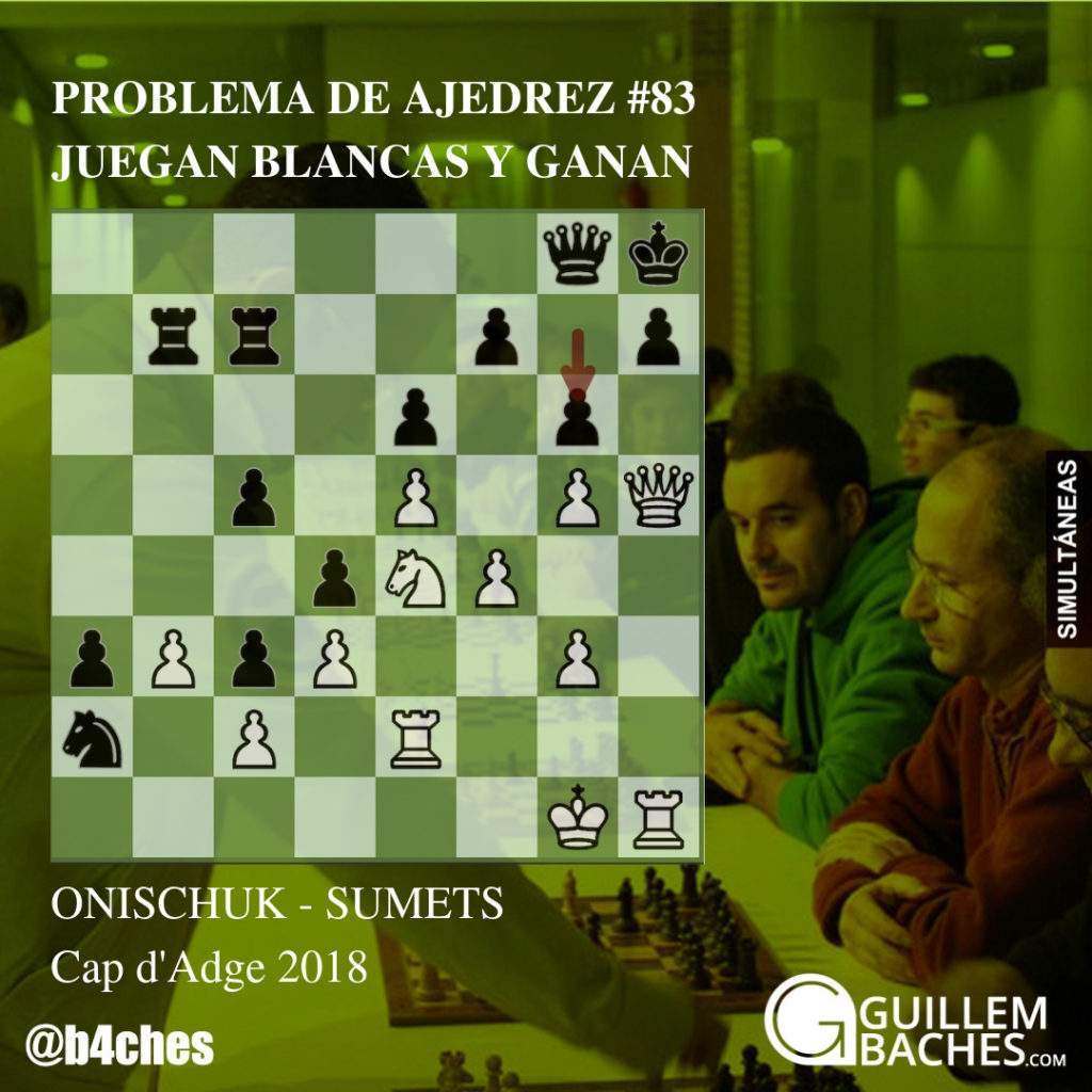 PROBLEMA DE AJEDREZ #83. JUEGAN BLANCAS Y GANAN. ONISCHUK - SUMETS. CAP D'ADGE 2018 1