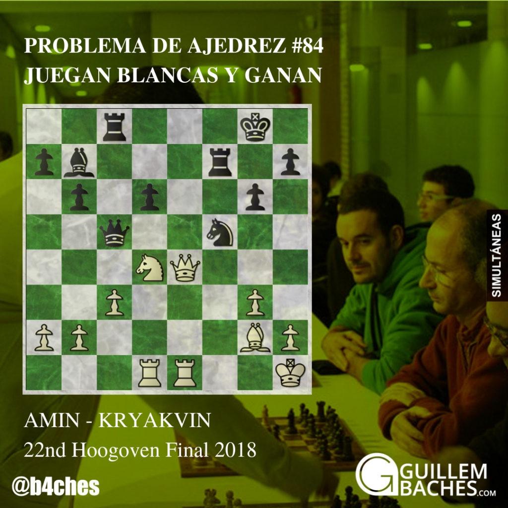 PROBLEMA DE AJEDREZ #86. JUEGAN BLANCAS Y GANAN. HARIKRISHNA - PRAGGNANANDHAA 6
