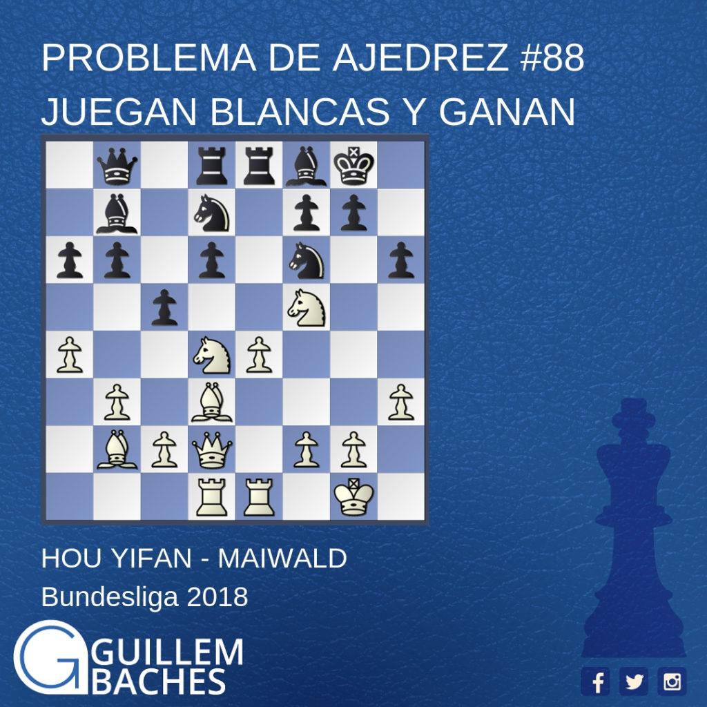 PROBLEMA DE AJEDREZ #1 JUEGAN BLANCAS Y GANAN 4