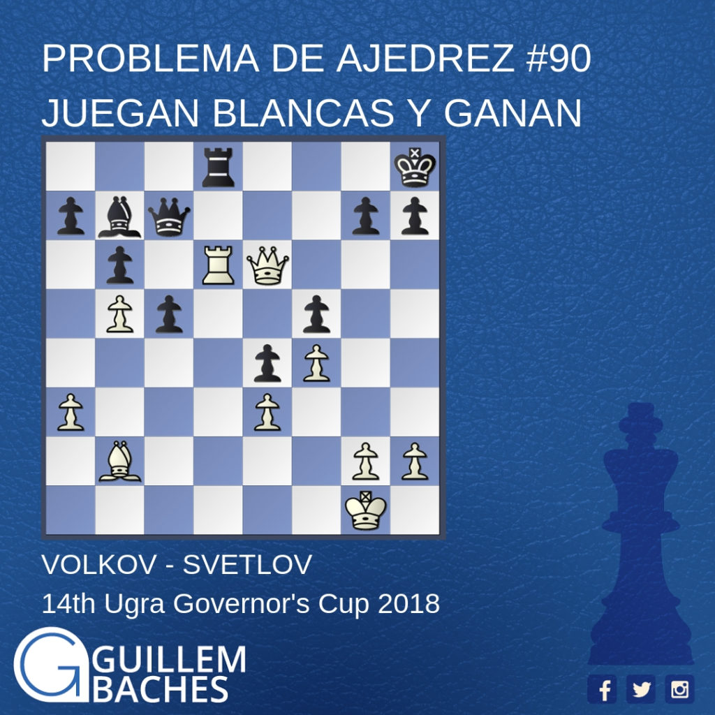 PROBLEMA DE AJEDREZ #47 JUEGAN BLANCAS Y GANAN 1