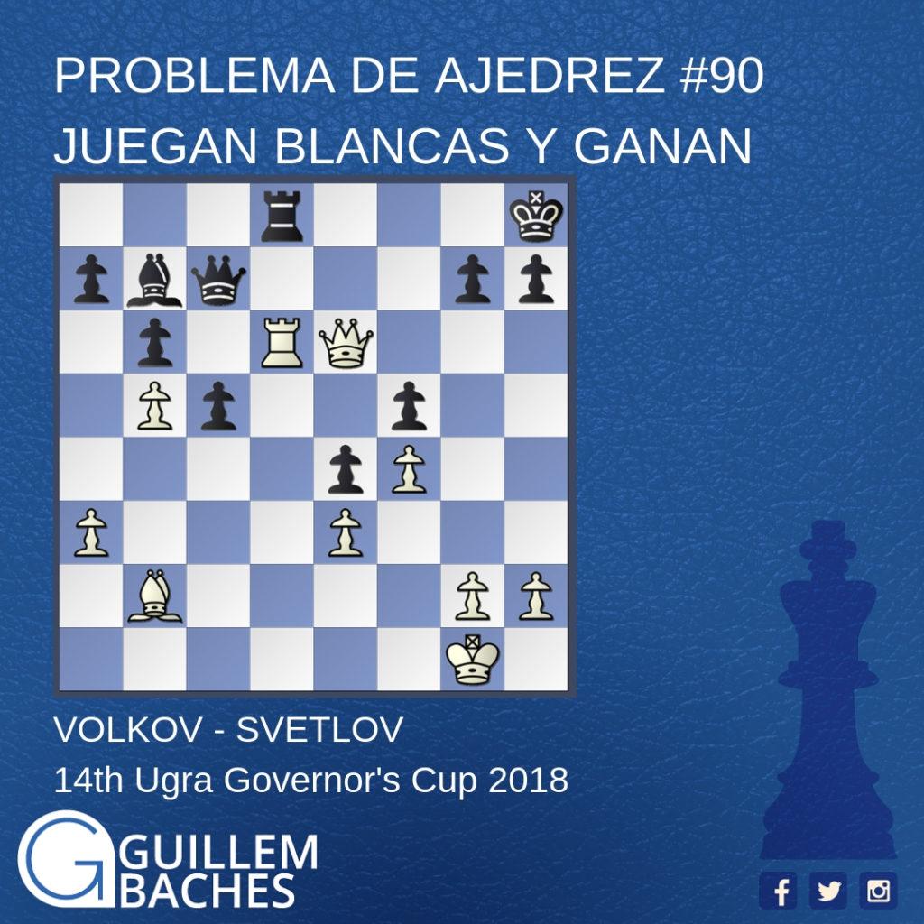 PROBLEMA DE AJEDREZ #56 MATE EN 3 JUGADAS 2