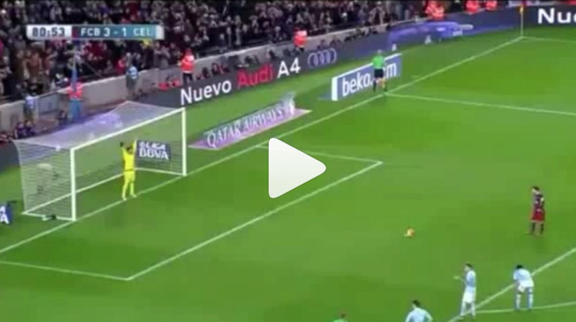 Vídeo del Penalty Lanzado por Leo Messi y marcado por Luis Suárez 6