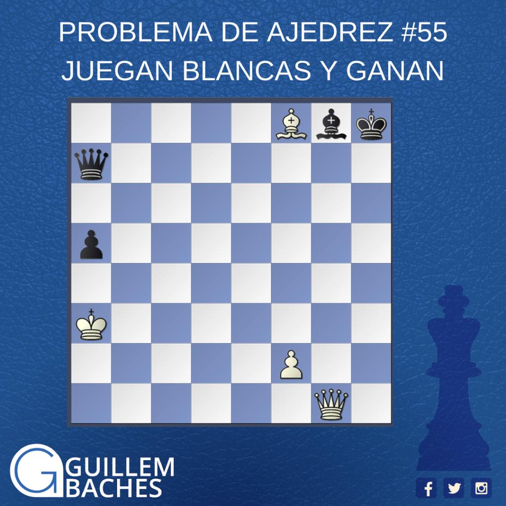 PROBLEMA DE AJEDREZ #55 JUEGAN BLANCAS Y GANAN 9