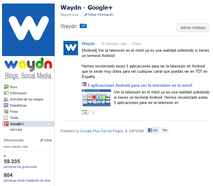 Cómo Añadir Google+ en tu Fanpage de Facebook 7
