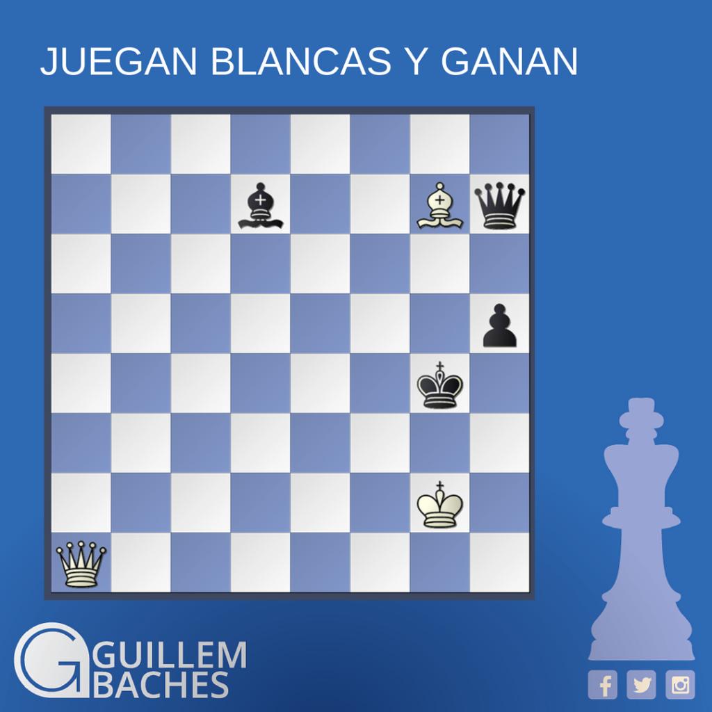 PROBLEMA DE AJEDREZ #53 JUEGAN BLANCAS Y GANAN 8
