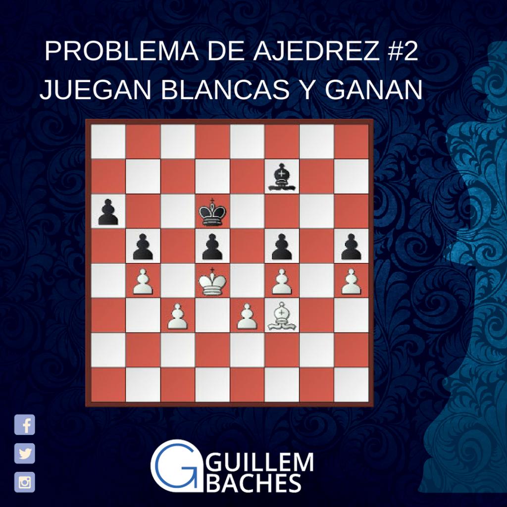 PROBLEMA DE AJEDREZ #1 JUEGAN BLANCAS Y GANAN 6