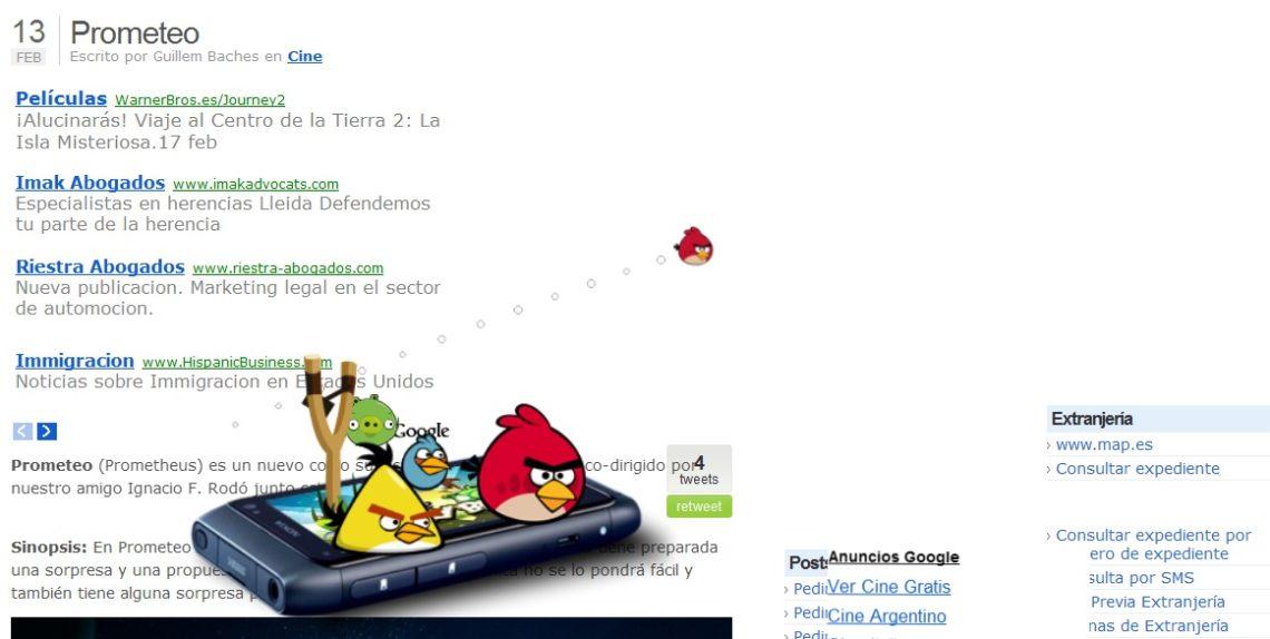 Juega al Angry Birds en tu blog 7