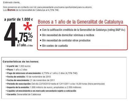 Bonos Generalitat: entidades donde comprarlos 1