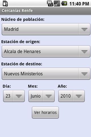 Consultar Horarios de Cercanías Renfe en tu móvil Android 1