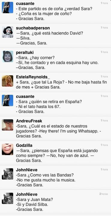 Gracias Sara