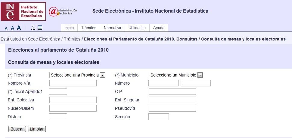 Consulta de Mesa Electoral. Elecciones Catalanas 2015 1