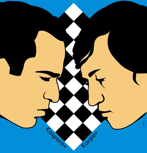 Kasparov VS Karpov en Valencia 2