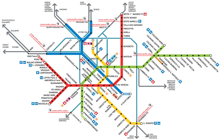 Mapa de Metro de Milán 8