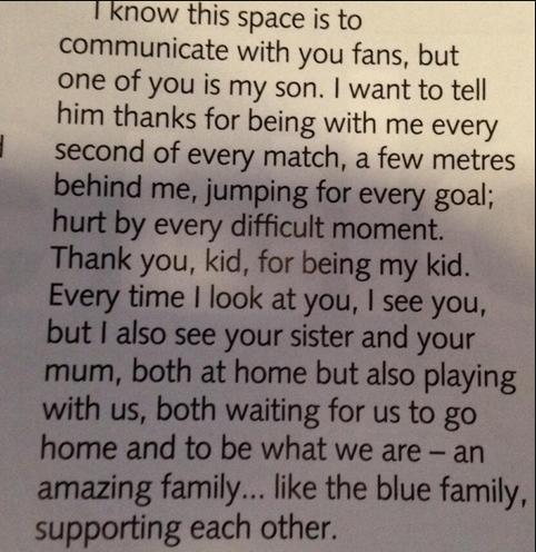 Emotiva Carta de José Mourinho a su Hijo 1