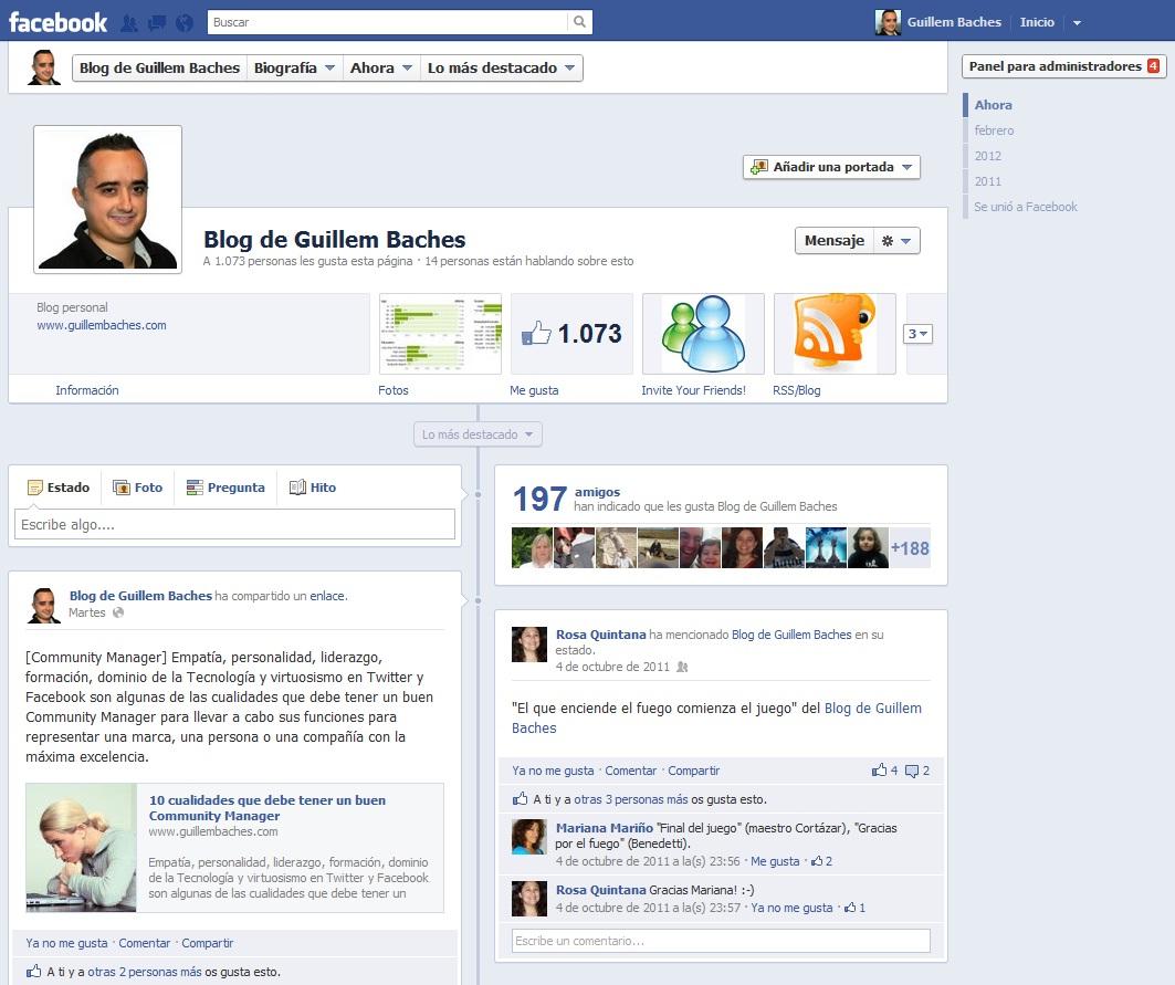 Nuevo diseño de las páginas de Facebook 3