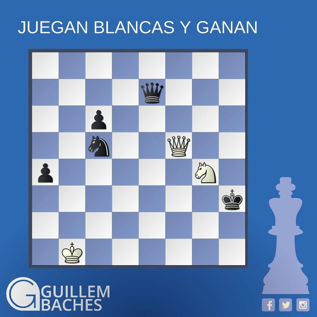 PROBLEMA DE AJEDREZ #53 JUEGAN BLANCAS Y GANAN 1
