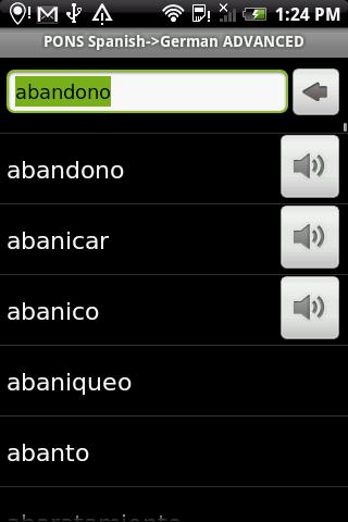 Diccionario alemán-español para Android 1