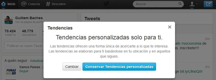 Cómo Activar las Tendencias Personalizadas en Twitter 5