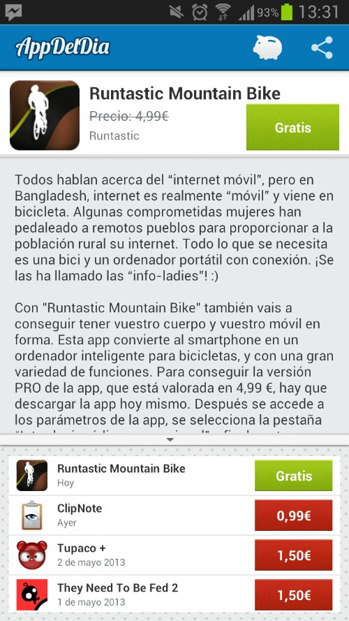 Appdeldia: Runtastic para Mountain Bike Gratis 2