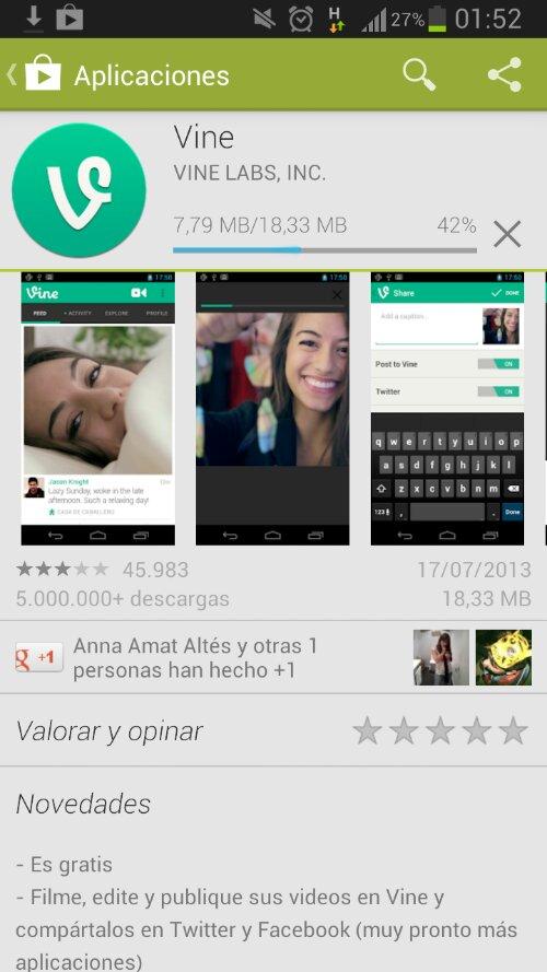 Vine para Android 3