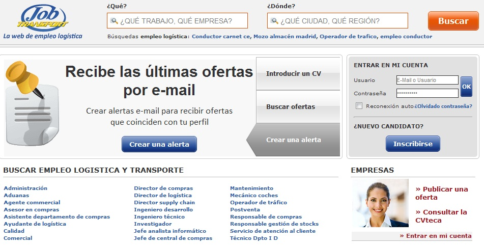 www.jobtransport.es Web de Empleo del sector Logística y Transporte 8