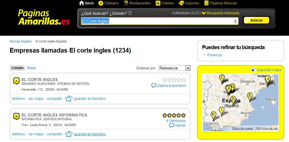 www.paginasamarillas.es Directorio Online de Empresas 8